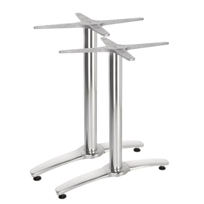 Cadre de table double en aluminium - hauteur 673mm