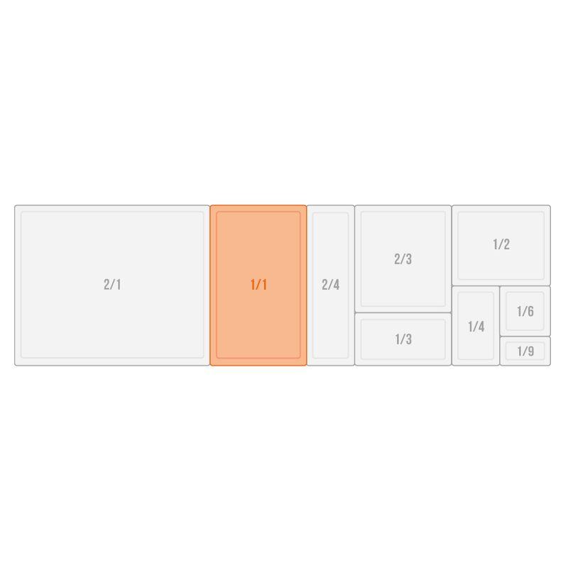 APS GN 1/1 Adapter / Zwischensteg  Länge: 53 cm