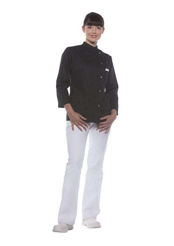 Damenkochjacke Larissa, schwarz, Größe: 42