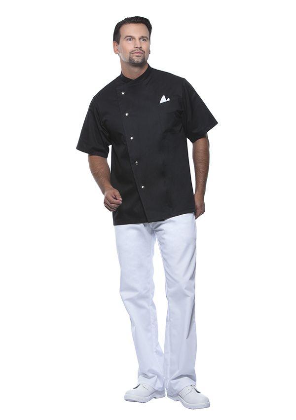 Herrenkochjacke Gustav, schwarz, Größe: 54