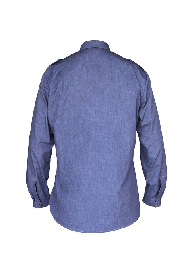 Herrenkochhemd Jeans Style, vintage blue, Größe: 60