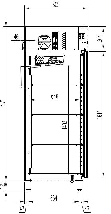 Kühlschrank PROFI 700 GN 2/1 Superior