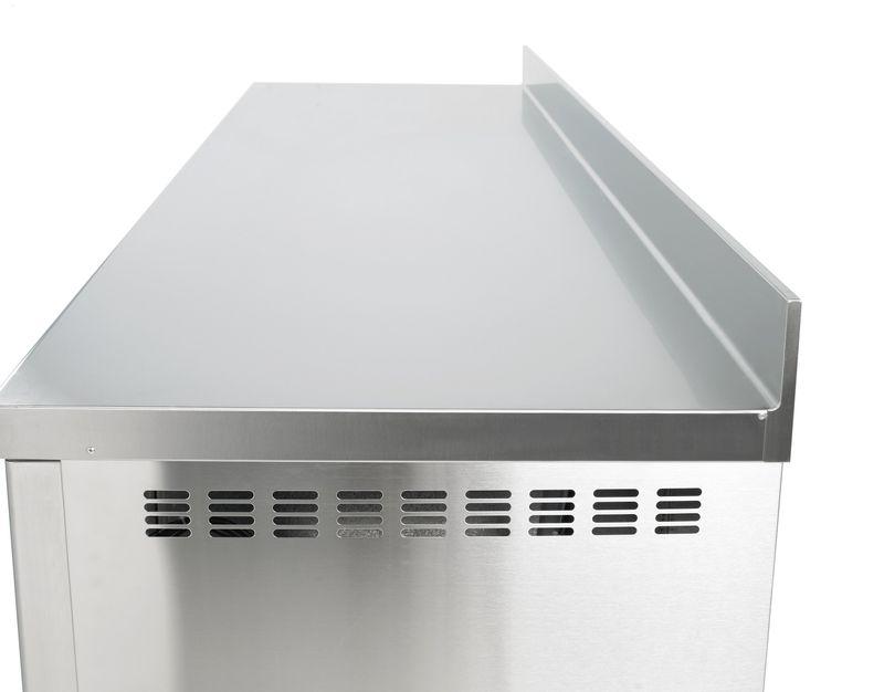 Kühltisch Profi 0/6 mit Aufkantung - GN 1/1