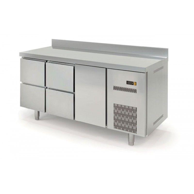 Kühltisch Profi 600 1/4 mit Aufkantung