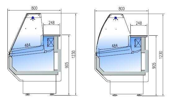 Kühltheke Profi 200 - rundes Frontglas