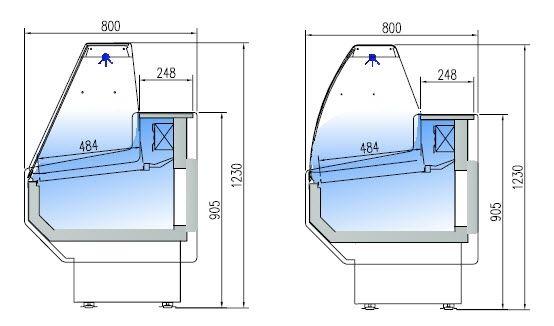 Kühltheke Profi 250 - rundes Frontglas