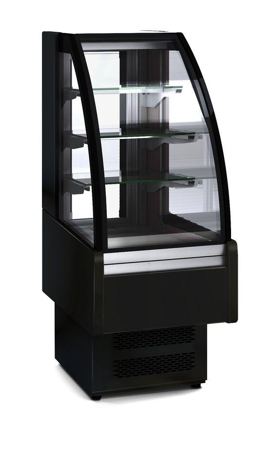 Kühlvitrine Profi 60S für Schokolade - rundes Frontglas