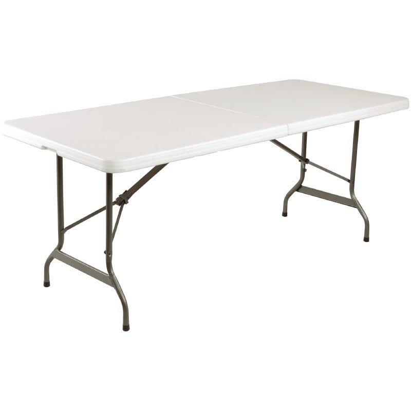 Vollständig Klappbarer Büffettisch weiß 2,44m
