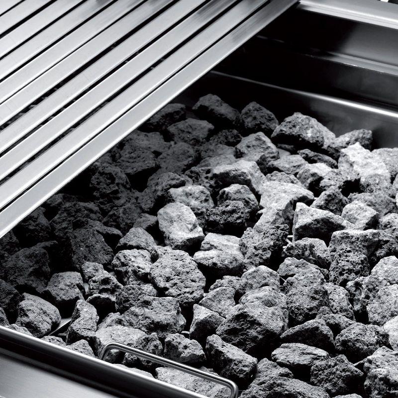 Grill à pierre de lave Dexion série 66 - 80/60 grille à poisson, appareil à poser
