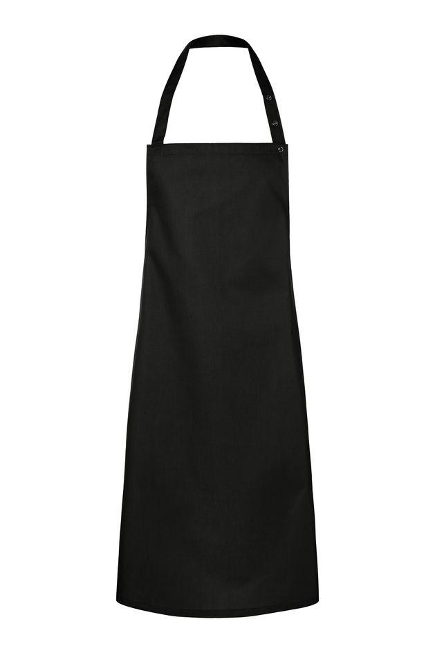 Latzschürze Santorini 75 x 95 cm, schwarz