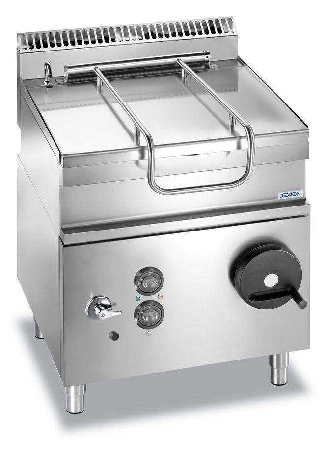 Gas-Kippbratpfanne Dexion Lux 700 - 80/73 60 Liter, Pfanne aus hochwertigem Edelstahl