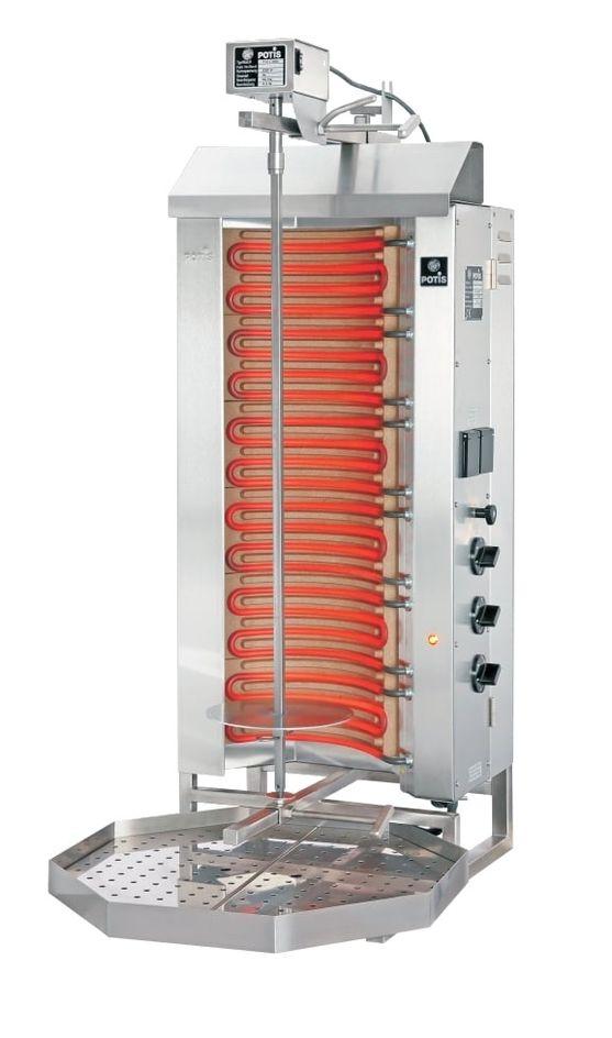 Gril électrique kebab/gyros Potis E3 - cuve de graisse octogonale