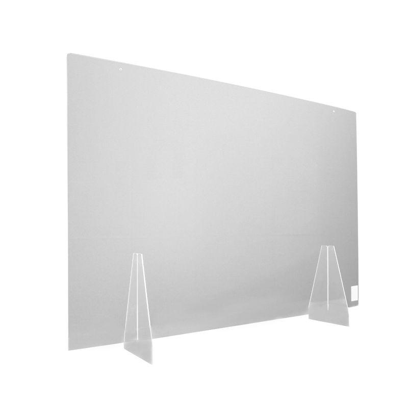 Trilux Hygiene-Schutzwand 800x800 mit Standfüßen