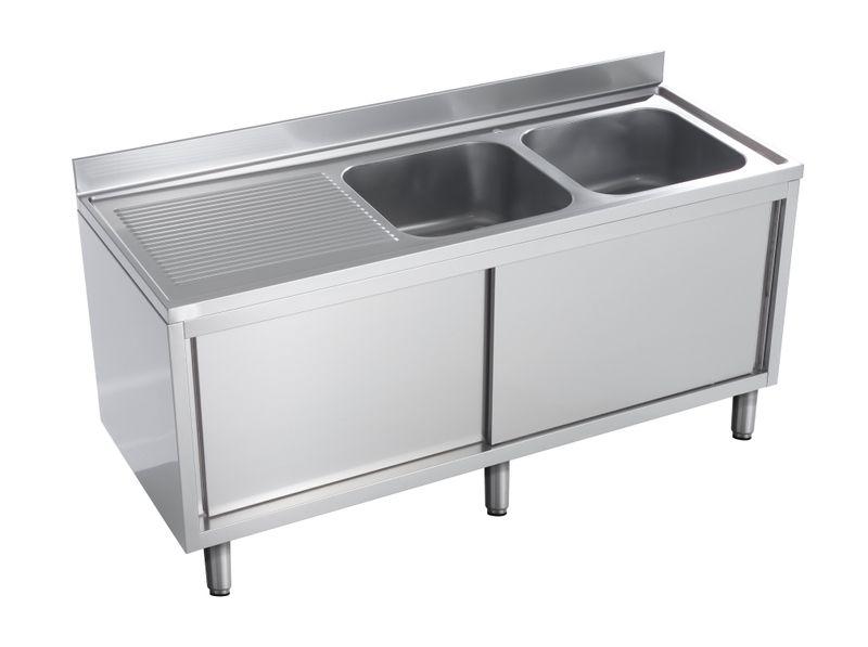 Spülschrank Eco 16x6 mit 2 Becken rechts
