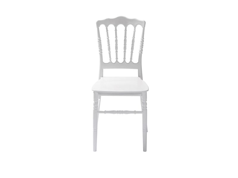 Stapelstuhl Napoleon Weiß 4 Stück