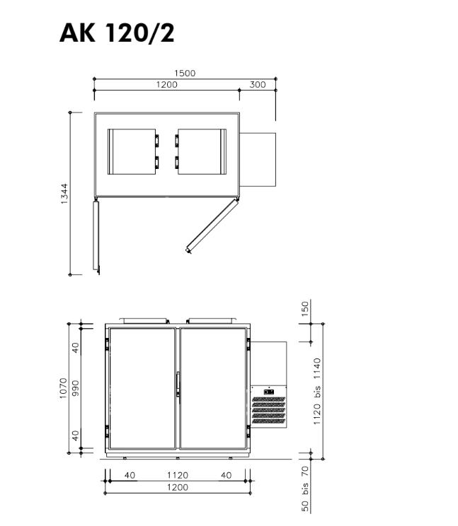 Hefa Abfallkühler 2x 120L