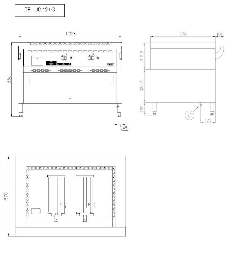 Teppanyaki Grill - GAS - TP 12/JG