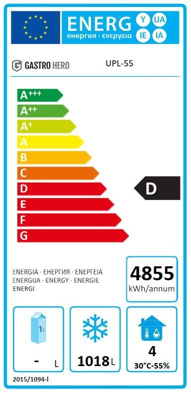 Coreco Edelstahltiefkühlschrank US Range 1400