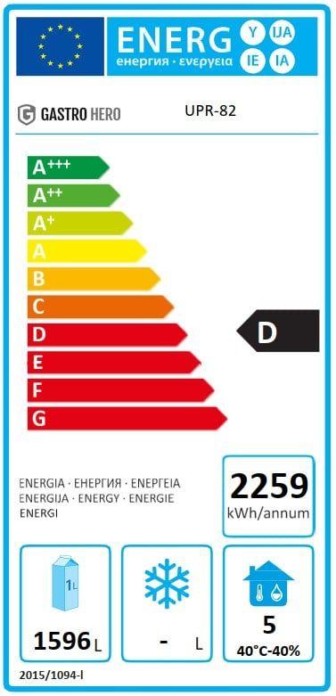 Coreco Edelstahlkühlschrank US Range 2200