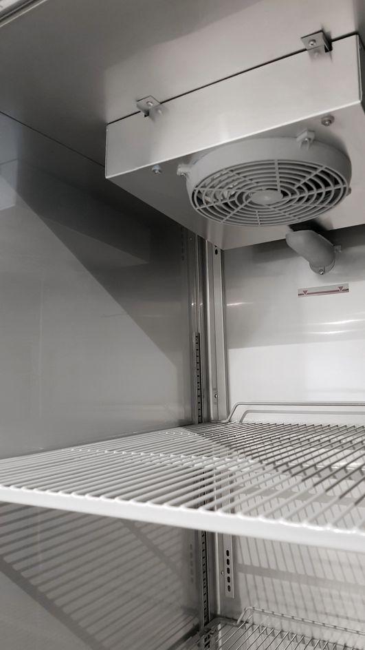 Coreco Edelstahlkühlschrank US Range 650 mit Glastür