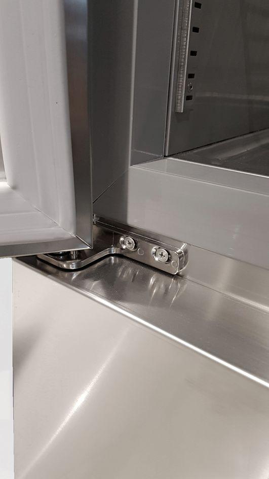 Coreco Edelstahlkühlschrank US Range 1400