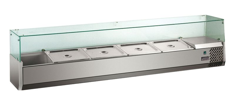 Kühlaufsatz ECO 5 x GN 1/4 mit Glasaufsatz