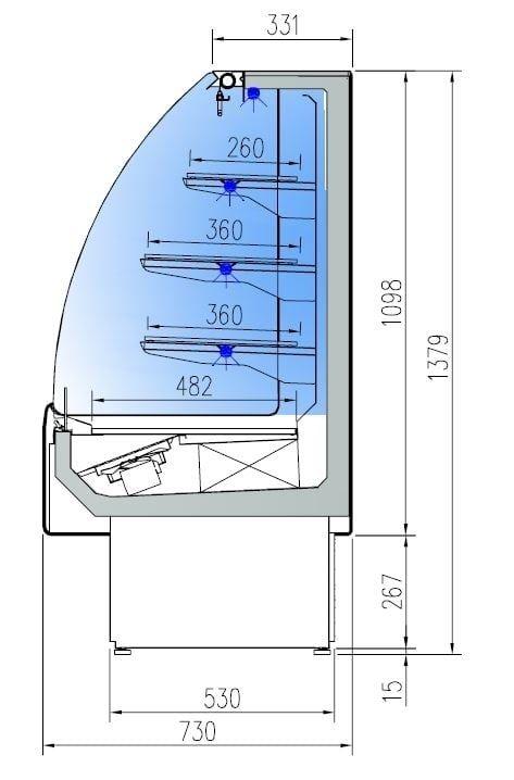 Wandkühlregal Profi 130