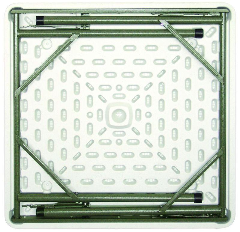 Klapptisch Bolero viereckig, weiß 86 x 86
